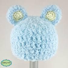 Crochet Newborn Hat Pattern Delectable Free Crochet Newborn Bear Hat Pattern AMK Crochet