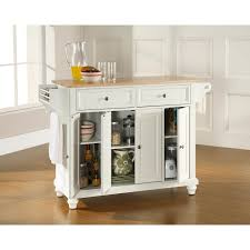Crosley Furniture Kitchen Island Crosley Furniture Newport Natural Wood Top Kitchen Island Best