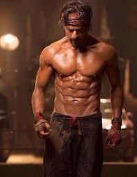 shahrukh khan s 8 pack abs in happy