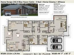 5 bedroom house plans australia 260 4