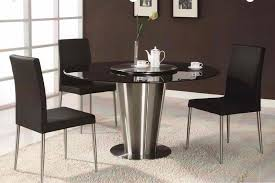 modern kitchen table. Fantastic Design Of The Modern Kitchen Tables With Black Rounded Table Ideas Silver Single Legs H