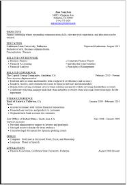 Resume Examples Internship Examples Of Resumes
