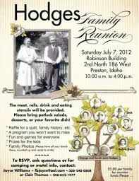 Family Reunion Flyers Templates Family Reunion Flyers Faveoly