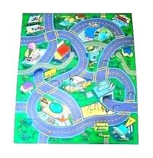 kids train rug car track rug