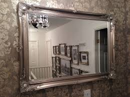 Diy Large Wall Mirror Diy Framing A Large Wall Mirror Doherty House Decorative Large