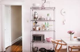 View in gallery Wire shelves in the kitchen.jpg