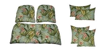 outdoor settee cushion image 0 outdoor wicker settee cushions set of 3