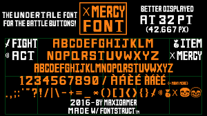 undertale screen size mercy font the undertale font for battle buttons by maxigamer on