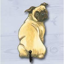 pug dog coat hook