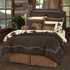 faux leather barbwire western bedding comforter set and accessories