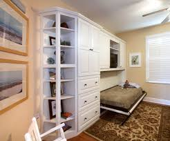 home office murphy bed. Painted Home Office Murphy Wall Bed In White By Showplace Cabinetry - View 4