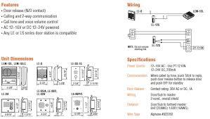 aiphone bbx 1e backbox for le b bn c cn online Lift Master Wiring-Diagram aiphone lem intercom system