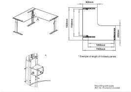 altex 100 corner desk 1500mm dimensions