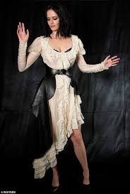 wow factor eva green was certainly the star of the show as she joined her