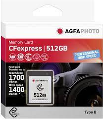 AgfaPhoto CFexpress Agfaphoto Professional High Speed Brand 512 GB:  Amazon.de: Computer & Accessories