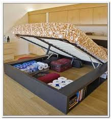 queen size platform bed frame with storage bed frame with storage frames diy and storagehome desi