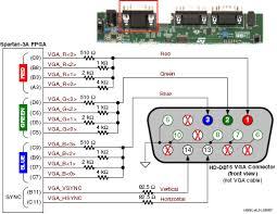 electrical wiring diagrams  vga wiring diagram  vga port view vga        electrical wiring diagrams  spartan a fpga vga wiring diagram hd db  connector  vga wiring