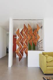 modern room dividers the walnut window shades act as a screen