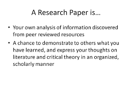 conducting research and writing a literary research paper english  3 a research paper
