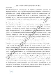 reflective essay essay sample from assignmentsupport com essay writin  reflection paper on my participation introduction this reflection paper aims to the analysis of the activities