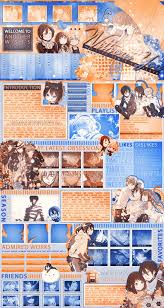 mal profile layouts mal profile layout noragami by na ko on deviantart