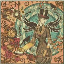 Details About Steampunk Lady W Top Hat Wings Digital Counted Cross Stitch Pattern Chart