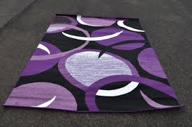 purple black and grey area rug