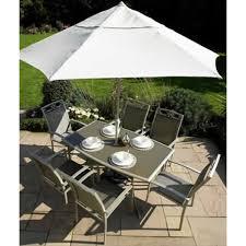 Leisuregrow gold coast garden furniture set 6 seat armchair