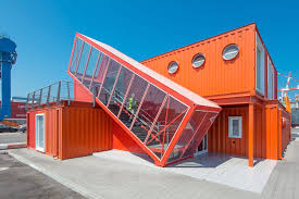 Shipping containers office Custom Shipping Container Terminal Treehugger Shipping Container Offices Around The World Big Box Containers