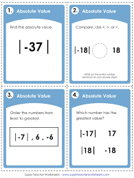 Absolute Value Worksheets