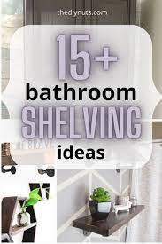 20 bathroom shelf ideas to finally