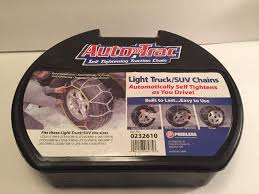 Peerless Tire Chains Chart Tire Snow Chains Peerless 0232610 Light Truck Suv Auto Trac Self Tightening