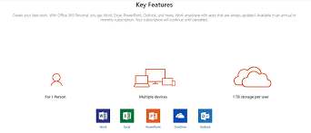 Microsoft Office 365 Pricing Microsoft Office 365 Personal Medialess 1year Subscription Qq2 00807