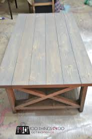 ... Brown Rectangle Pallet Wood Rustic X Coffee Table Designs To Complete  Living Room Ideas ...