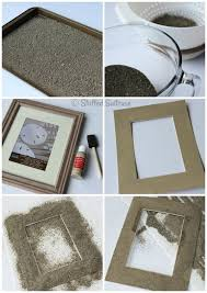 diy sand photo frames for displaying your beach vacation picture memories stuffedsuitcase com family travel