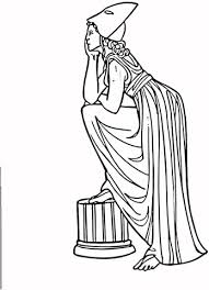 Griekse Vrouw Uit De Oudheid Kleurplaat Gratis Kleurplaten Printen