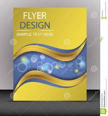 Design Folder Cover Cover Design Business Flyer Template Folder Stock Vector