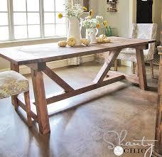 4x4 truss beam table ana white