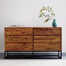 logan industrial 6 drawer dresser natural