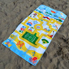 Beach towels Cute Play Mat Travel Beach Towel For Kids Kids Swim Towel With Play Mat Design Snappy Towels Kids Beach Towels Play Mat Travel Towel Wearable Towel Snappy Towels