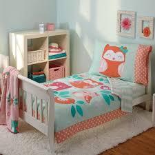 hoot 4 piece toddler bedding set