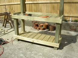 Make A Rustic Potting Bench DIY Project Using Upcycled Wood And Plans For A Potting Bench