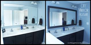 diy bathroom mirror frame. DIY Bathroom Mirror Frame With Molding The Happier Homemaker Borders For Mirrors In Bathrooms Plans 19 Diy