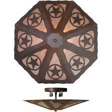 rustic texas star lighting texas star octagon ceiling light fixture