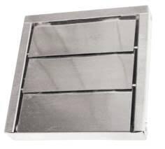 exterior exhaust fan vent cover. low profile stainless steel 3 louver vent exterior exhaust fan cover