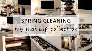 spring cleaning organising my makeup collection beauty you