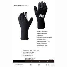 Dive Glove Size Chart Amazon Com Mcjl Diving Gloves 3mm Neoprene Wetsuit Gloves