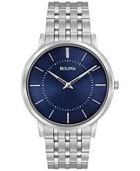 mens dress watches shop mens dress watches macy s bulova men s dress stainless steel bracelet watch 40mm 96a188