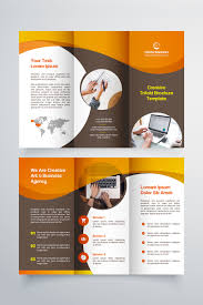 Ebrochure Template Creative Trifold Brochure Template 2 Color Styles Corporate Identity Template