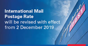 Postal Size Chart Postage Rates Delivery Times Singapore Post